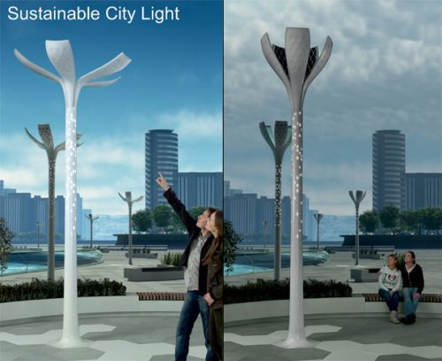 sustainable city light Sustainable City Lights Have a Flowery Approach to Life