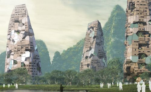 hermit towers Hermit Mountains Skyscraper Blends With its Surroundings