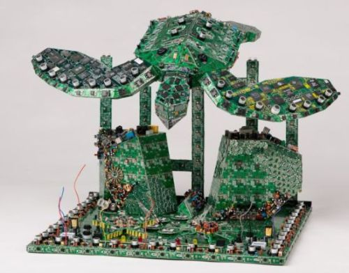 pcb sculptures Artist Upcycles old Circuit Boards Into Art