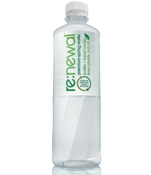 renewal Re:newal Tries to Make Bottled Water Look Better With Plant Based Packing