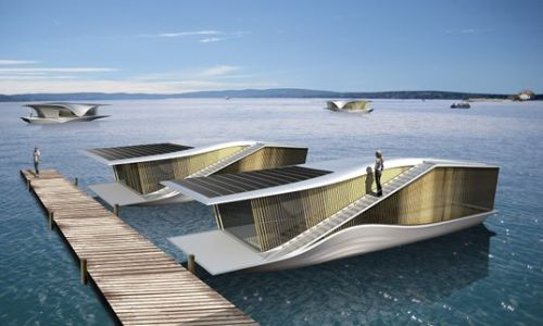 Floating Home1 The Last resort: Sleek solar powered floating home