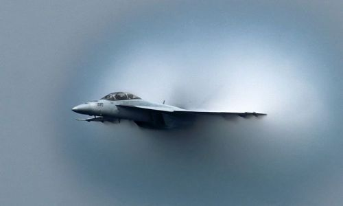 Hornet 1 US Navy flies First Green Supersonic Jet on Earth Day