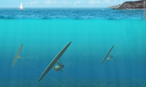 kite Underwater Kite feeds on tidal energy to generate power