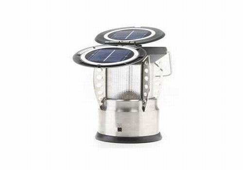 oasis OASIS Solar Stainless Steel Lantern works all night long