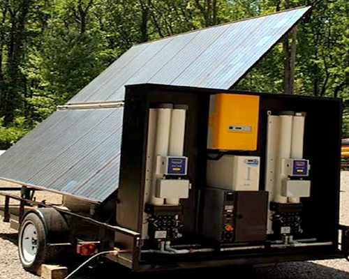 sssnew HYDRA, solar powered portable water purification unit provides clean drinking water