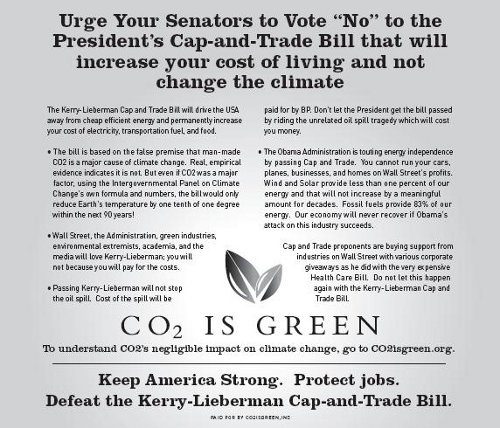 CO2 Ad New Ad Claims CO2 Is Not Harmful To Environment!