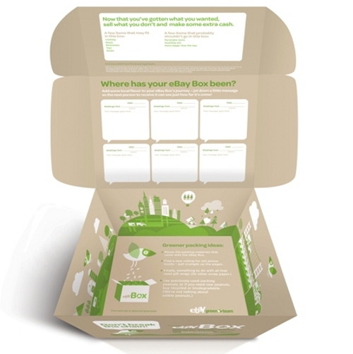 ebay box inside eBay's New Green Initiative Comes in the Form Of Eco Friendly Boxes