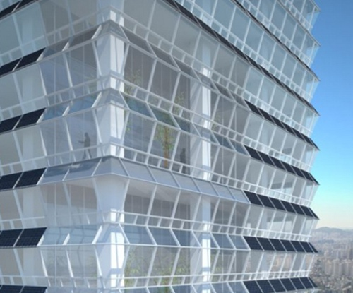 Koreanbuilding Federation of Korean Industries Tower Features Efficient Solar Electric Facades