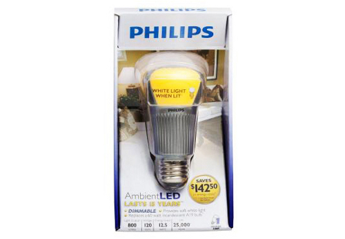 ambientleadphilips Philips AmbientLED Replaces Common Incandescent Bulbs; It's Green & Saves Power Too