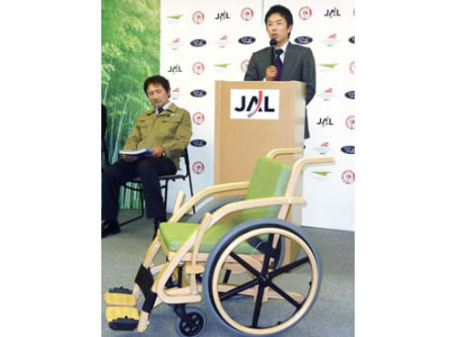 wheel chair Japan Airlines to Provide Bamboo Wheel Chairs to Differently abled at Haneda & Oita Airports