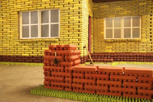 Egg Carton House The Original Dream Home Made of Egg Cartons by Goldenhen Studio
