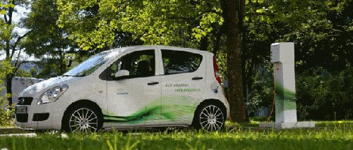 greenchargingstation Siemens & BMW Showcase 'Contactless Charging System' at Hannover Messe 2011