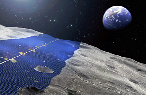 Japaness corporation  green Japanese Company Looks Heavenward; Aims at Harnessing Energy from Moon With Solar Panels