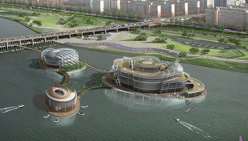 Seoul Viva Floating island2 Viva! Solar Powered Floating Structure Comes Up in Seoul