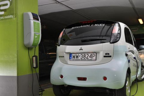 mitsubishi e charging station in poland E+ Unveils Plug In Vehicle Mobility Infrastructure in Poland