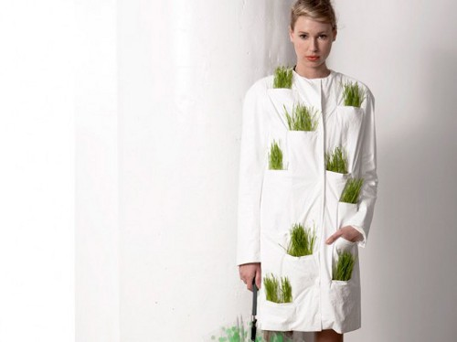 wrk shp tyvek wheatgrass dress 1 537x402 Wrk Shp's Raincoat is Typically Green