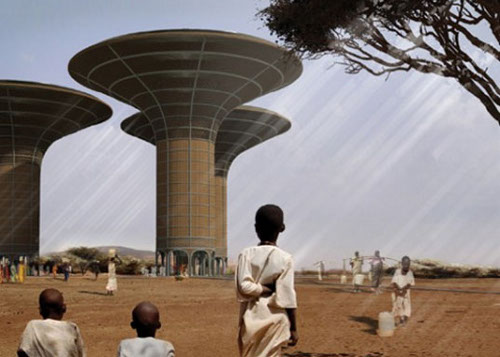 Watertower H3AR 1 Sudan's Water Scarcity Could Find a Savior in Water Harvesting Skyscrapers