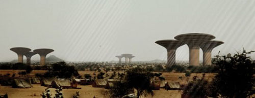 Watertower H3AR Sudan's Water Scarcity Could Find a Savior in Water Harvesting Skyscrapers