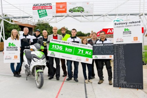 electricscooter Czech Electric Scooter Sets Distance Record; Covers 706 Miles in 24 Hours