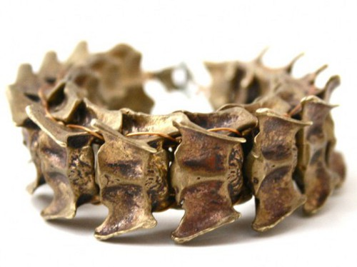 Bones and Feathers Debuts Animal Spine Jewelry Molded From Recycled Bullet Casings 1 Spooktacular Jewelry from Animal Vertebrae