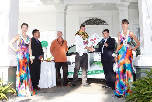 teacher iMiev Mitsubishi i MIEV Given Away as Prize to Teacher in Hawaii