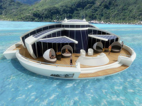 Solar Powered Self Sustaining Solar Floating Resort is Absolutely Green