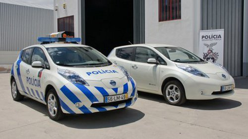 Leaf police Nissan Leaf Models Used as Police Cars in Portugal