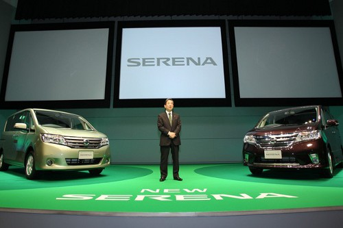 serena Nissan Launches Serena S Hybrid in Japan