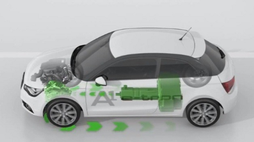 audietron Audi A1 e tron Hybrid Concept Being Tested