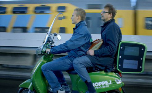 scooter1 Hopper Electric Scooter Taxi Service Launches in Amsterdam
