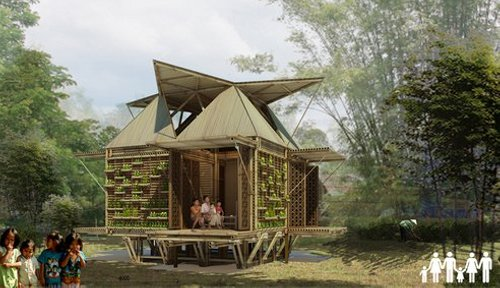 hp architects disaster resistant housing vietnam Bamboo Houses to Tackle Flash Floods