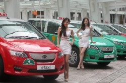 Electric taxis in Hong Kong