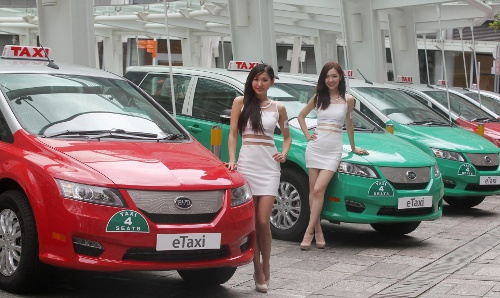 Electric taxis in Hong Kong Hong Kong Kickstarts Zero Emission Initiative with EV Taxis