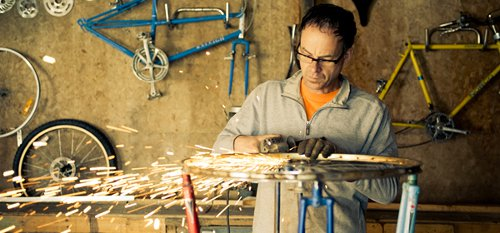 Gilbert Vanden Heuvel Old Bikes Recycled to Make Innovative Furniture Designs