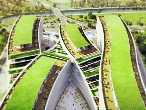 Kagithane Gardens Kagithane Gardens is all About Green Roofed Offices