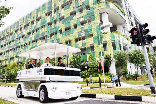 driverless vehicle Singapore Puts First Driverless Electric Vehicle on Road for Trials