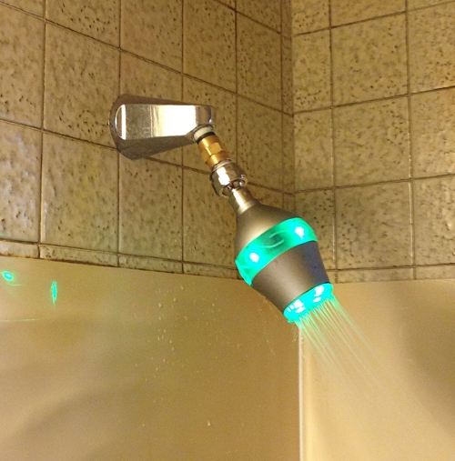 shower head decides how much water you use in the bath
