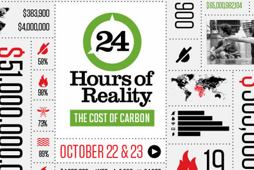 24hrsofreality 24 Hours of Reality: The Cost of Carbon Being Broadcast Live on Oct 22 23