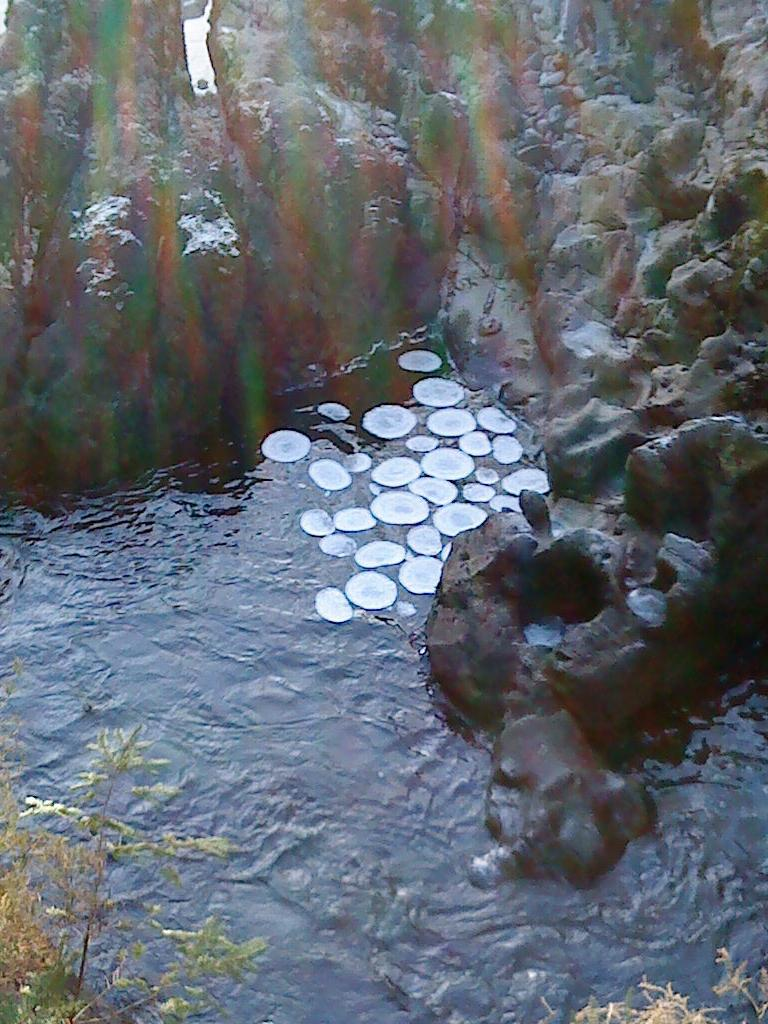 Ice Circles in the river Llugwy at Betws y coed 31 12 08 via wikipedia Ice Circles Not Caused by Climate Change or UFOs