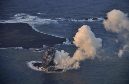 volcano Tiny Island Takes Shape Following Volcanic Eruption