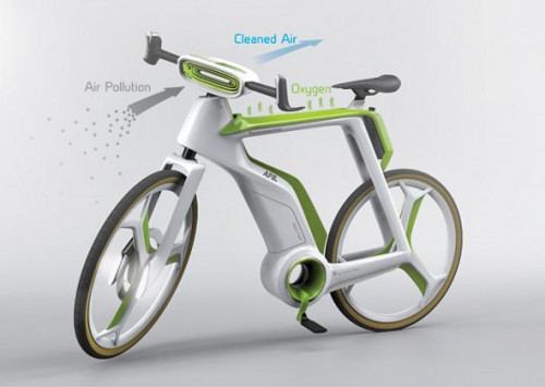 air purifying bike2 Bike Cleans Air as You Pedal