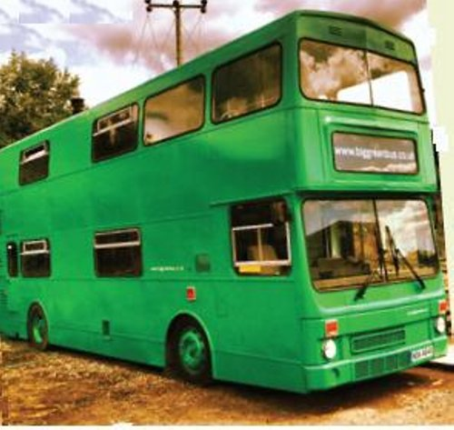 Green bus uk Abandoned Bus Recycled into a Mini Traveling Hotel