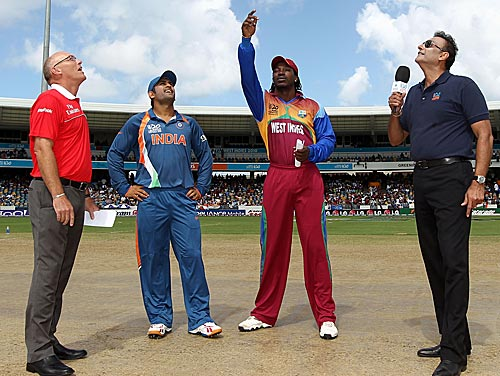 Dhoni at th toss India vs West Indies T20 World Cup 2014: Star Sports live streaming info and highlights