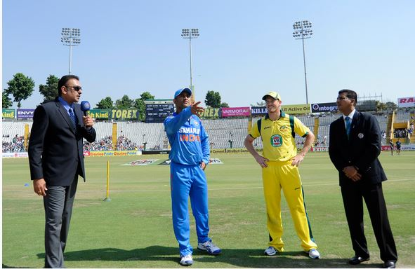 Dhoni at the toss World cup 2014 India vs Australia T20 World Cup 2014: Star Sports live streaming info, highlights