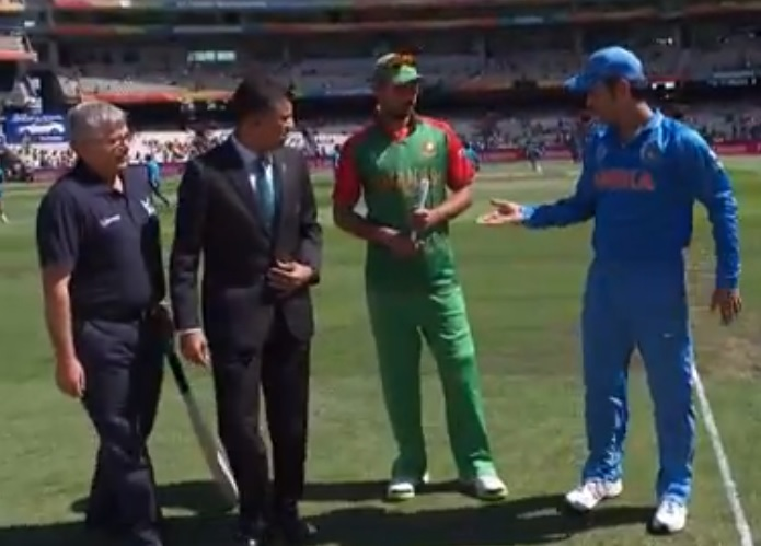 Dhoni wins toss in world cup 2015 Bangladesh vs India World Cup quarter final live: BTV, Star Sports live cricket streaming info and score